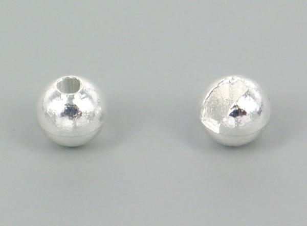 Tungsten Kopfperlen geschlitzt - facette silver Inh.10st 3,0mm