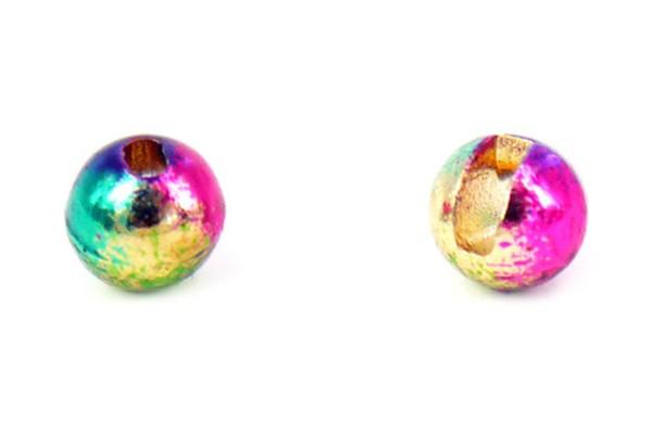 Tungsten Kopfperlen geschlitzt - Rainbow Inh.10st 4,0mm