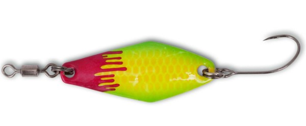 Magic Trout Bloody Zoom Spoon yellow / green #2 2,5g