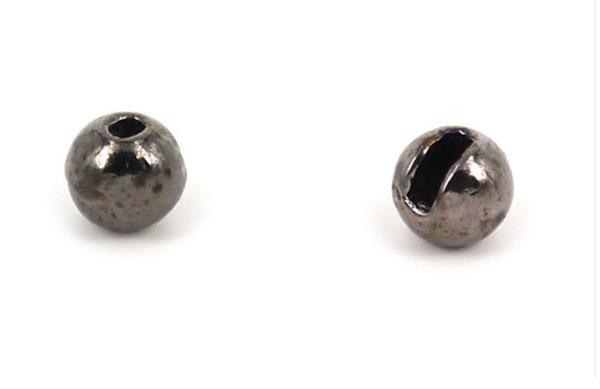 Tungsten Kopfperlen geschlitzt - Schwarz Inh.10st 4,0mm