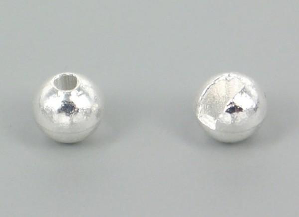 Tungsten Kopfperlen geschlitzt - Silber Inh.10st 4,0mm
