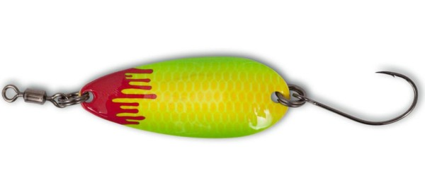 Magic Trout Bloody Shoot Spoon yellow / green #2 3,0g