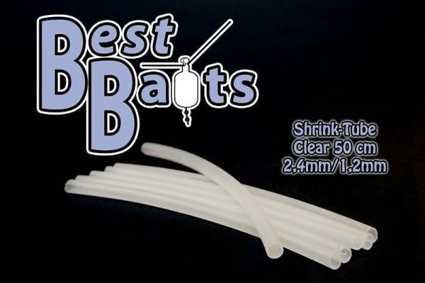 Best Baits Shrinktube Schrumpfschlauch Clear 2,4 - 1,2mm 50cm