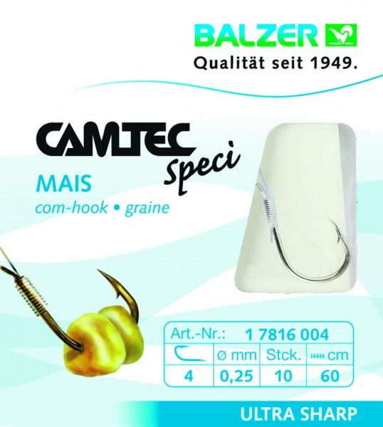 Balzer Camtec Spezi Mais Haken - Gold 60cm versch. Gr.- Inhalt 10st