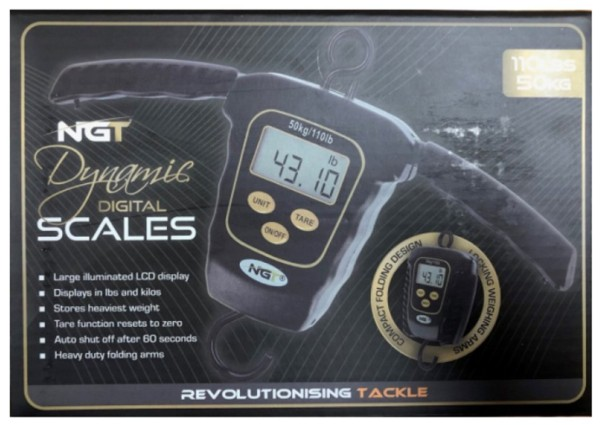 NGT Dynamic Digitalwaage 110lb / 50kg