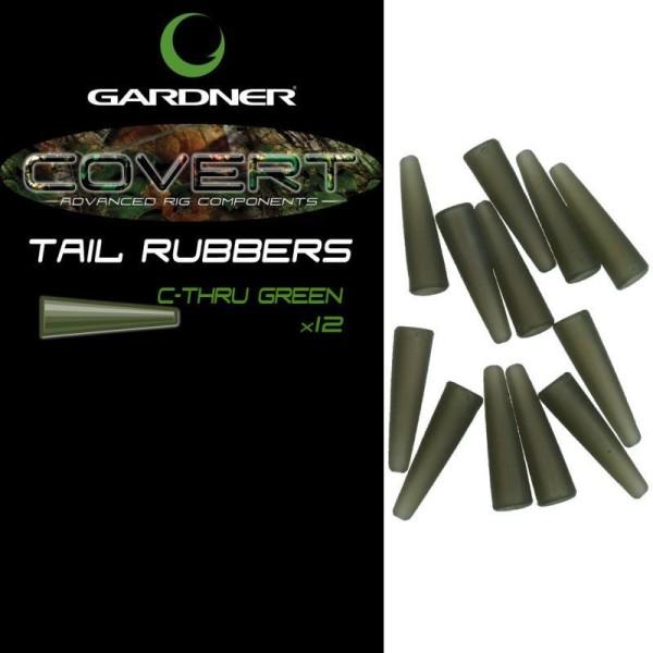 Gardner Tackle Covert Range Tail Rubbers C-THRU Green (Grün) oder C-THRU Brown (Braun)