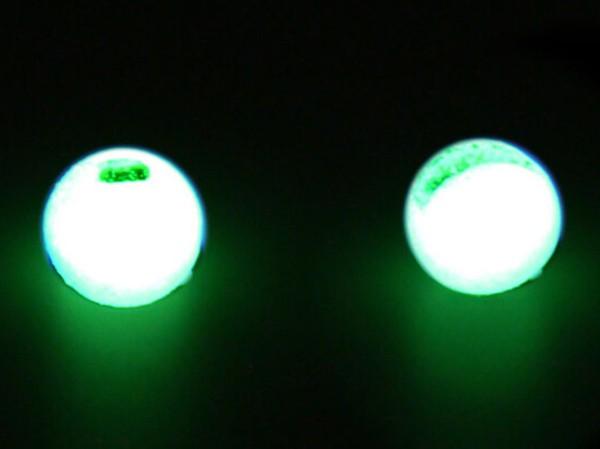 Tungsten Kopfperlen geschlitzt - Phosphor Inh.10st 4,6mm