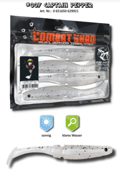 Combat Shad 7,5cm Captain Pepper Inh. 6stck