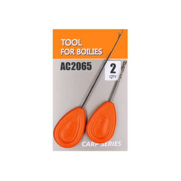 Orange Tool For Boilies - Bohrer + Nadel