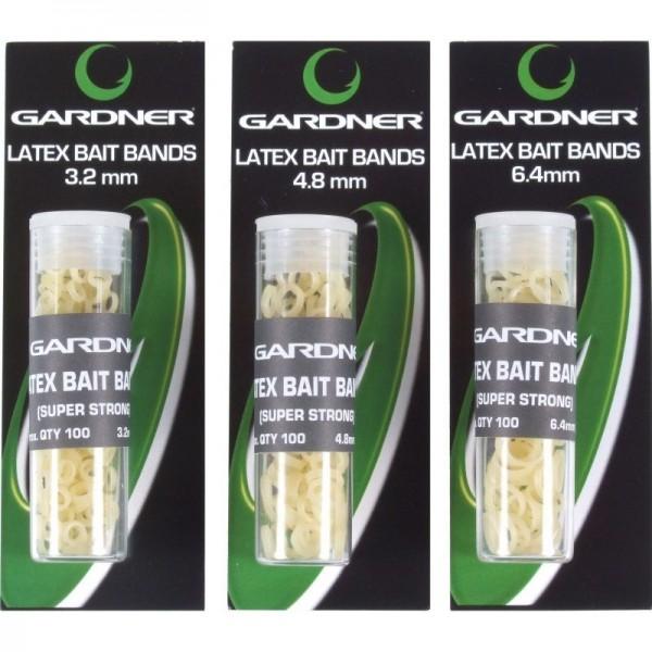 Gardner Latex Bait Bands 3 verschiedene Größen ca.100 pro Packung