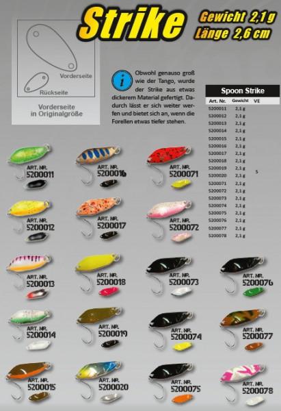 FTM Trout Spoon - STRIKE - 2,1g - 2,6cm versch. Farben