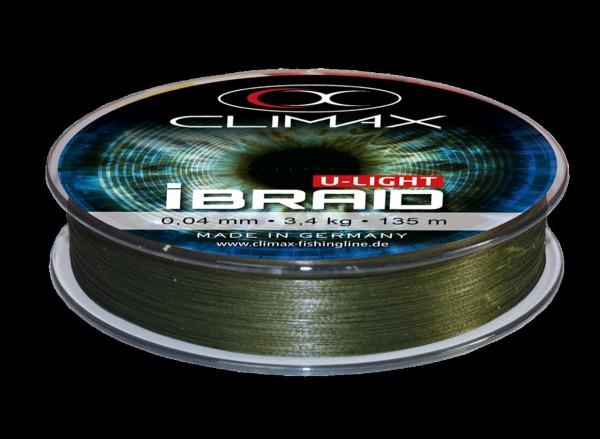 Climax U-Light iBraid 0,06mm - 4,5kg -135m - mossgreen Teflon Coated