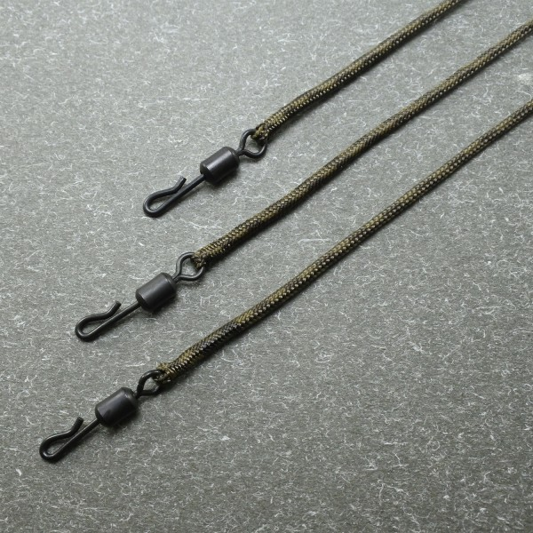 Orange Ready Leadcore Loops with Quick Change - 50cm - TK 20kg - Inh.3st