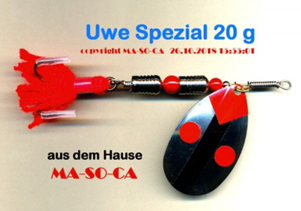 MA-SO-CA Spinner Uwe Spezial 20g - Hecht Spinner