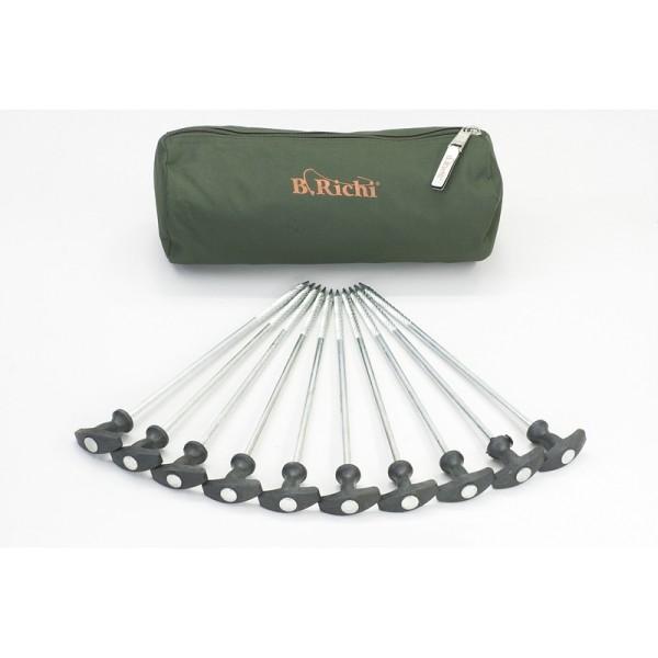 B.Richi T-Pegs Heavy 30 cm - 10er Pack + Tasche