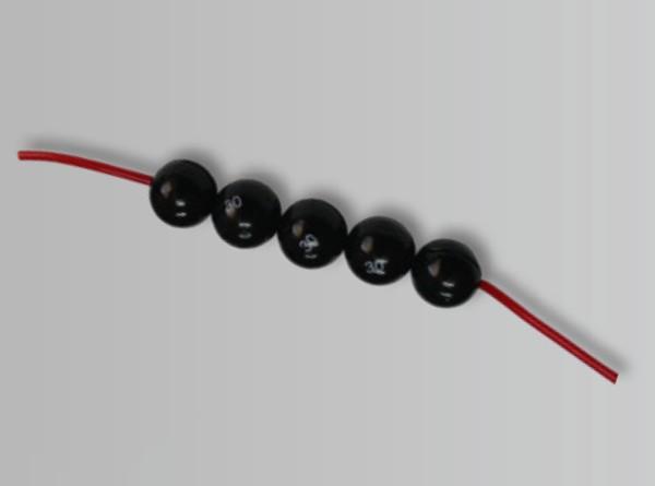 FTM - Kugelblei auf Kette 10,0g - schwarz Inh.4st