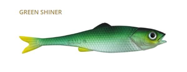 LMAB Finesse Filet 7cm - green shiner