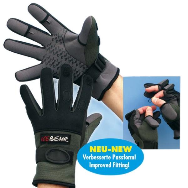 Behr Angelsport IceBehr Titanium - Neopren Gloves Handschuhe versch. Gr.