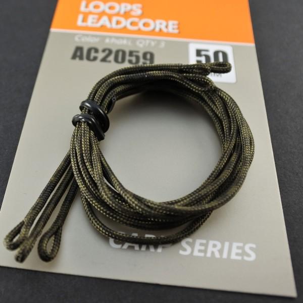 Orange Ready Leadcore Loops - 50cm -TK 20kg - Inhalt 3st