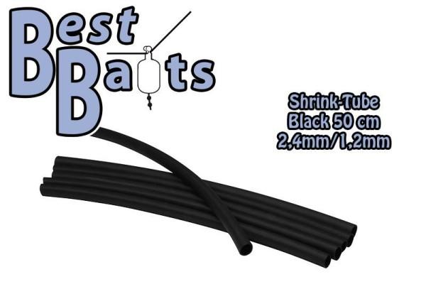 Best Baits Shrinktube Schrumpfschlauch Black 2,4 - 1,2mm 50cm
