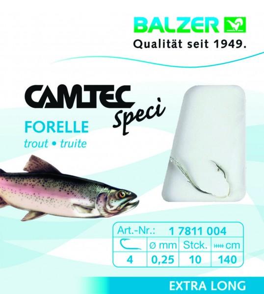 Balzer Camtec Spezi Forelle - silber - 140cm versch. Gr.- Inhalt 10st