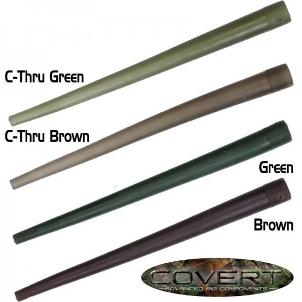 Gardner Tackle Covert Range Anti Tangle Sleeves C-THRU Green (Grün) oder C-THRU Brown (Braun)