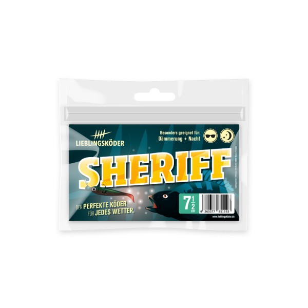 Lieblingsköder Sheriff 7,5cm Dämmerung + Nacht Inhalt 5 St.