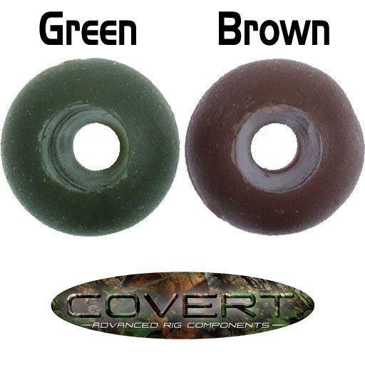 Gardner Tackle Covert Range Safety Beads Brown (Braun) oder Green (Grün)