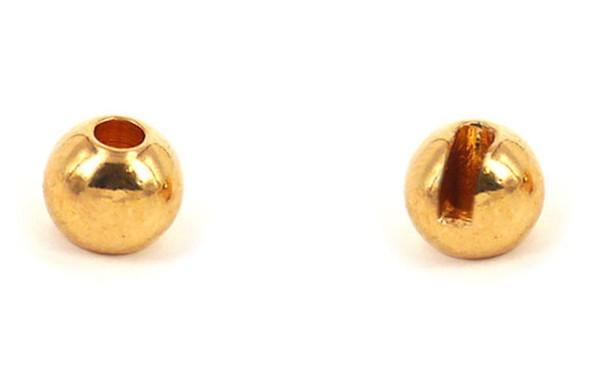 Tungsten Kopfperlen geschlitzt - Gold Inh.10st 3,0mm