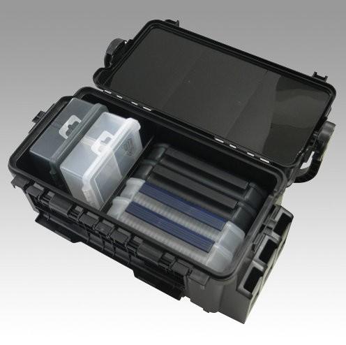 MEIHO VS-7070 schwarz - black clear lid - 35,6 x 18,6 x 21cm