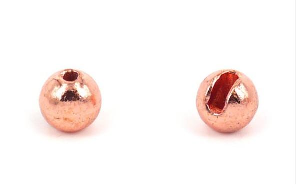 Tungsten Kopfperlen geschlitzt - Kupfer Inh.10st 4,0mm