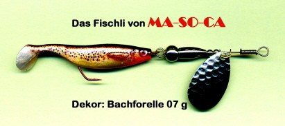 "MA-SO-CA ""Natural"" Fischli 7g 11cm versch. Design"