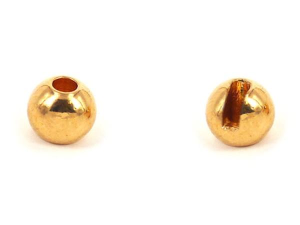 Tungsten Kopfperlen geschlitzt - Gold Inh.10st 4,0mm