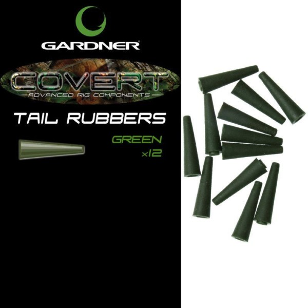 Gardner Tackle Covert Range Tail Rubbers Solid Green (Grün) oder Solid Brown (Braun)